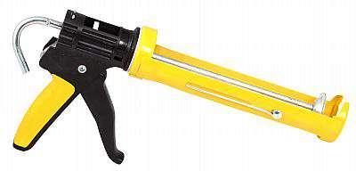 Pistole PROFI plast polouzavřená 310ml na práci s tmelem, silikonem, akrylem,