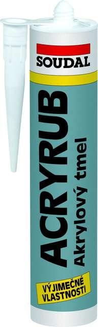 ACRYRUB akrylátový tmel SOUDAL 610ml šedý