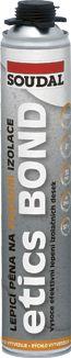 Lepící montážní pu pěna Soudal 800ml ETICS BOND na lepení polystyrenu a tepelně izolačních desek