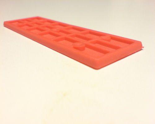 Vymezovací plastové podložky rozměr 3-20-100mm