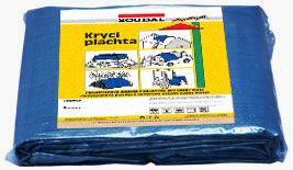 plachta na ochranu stavebního materiálu a strojů s oky 3x4m SOUDAL