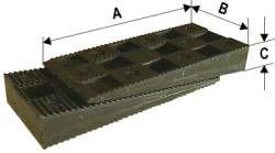 Montážní PVC klín 90*45*15