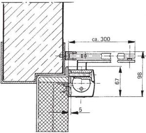GEZE TS 2000 montážní deska