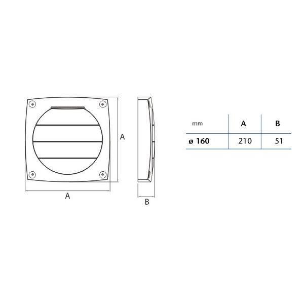 Spádová mřížka LHV 160