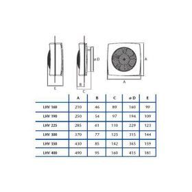 CATA Ventilátor LHV 400